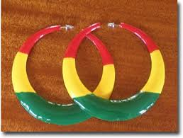 reggae earrings reggae hoop earrings reggae and rasta hawaii clothing and products