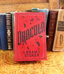 leather bound photo book clutch purse dracula by bram stoker leather bound book vintage
