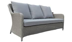 canape resine exterieur canapé d extérieur design en résine tressée 3 places grace