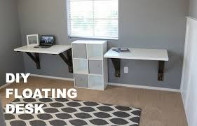 ikea office hack diy floating desk build ikea hack youtube