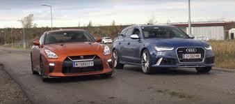 audi rs6 vs 2017 nissan gt r vs audi rs6 performance road drag race is