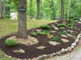 backyard hillside landscape ideas designs ideas and decor