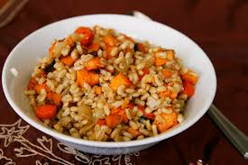 stress free thanksgiving roasted vegetable barley salad with lemon