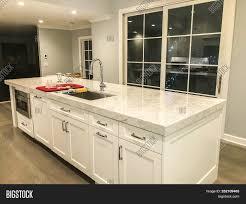 kitchen design white cabinets granite kitchen island white image photo free trial bigstock