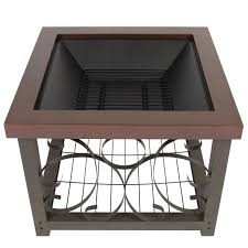 best choice products outdoor fire pit table firepit patio garden