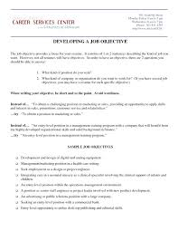 Resume Template Career Objective Objective Sample Of Resume Resume Objective Template Career