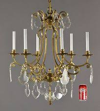 Vintage Glass Chandelier Vintage Crystal Chandelier Ebay