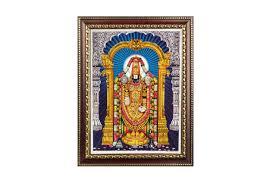 lord venkateswara photo frames with lights and music lord tirupati balaji photo large rudraksha ratna