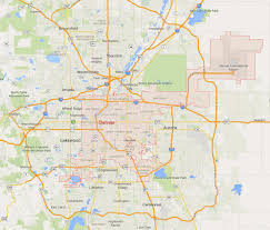 Colorado Maps by Denver Colorado Map