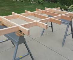 portable track saw table simple plywood cutting table work table updated