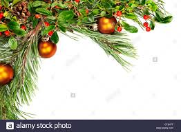 holiday garland with ornaments pine branches pine cones and