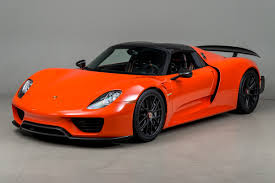 orange porsche 2015 porsche 918 weissach