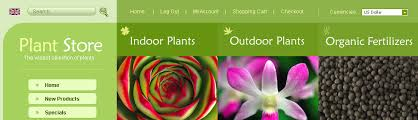 website template 23559 plant store flower custom website template