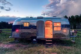 vintage airstream restoration travel trailer customization idea