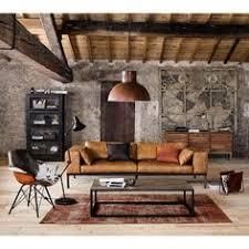 le monde du canapé canapé 4 places en cuir camel maison du monde canapés et place