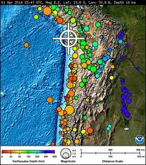 Earthquake World Map by High Waves Blackouts Highway Damage Follow 8 2 Chile Earthquake