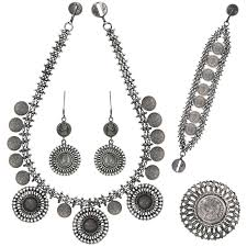 silver necklace sets images Antique foliate coin set sets categories 92 5 sterling silver jpg