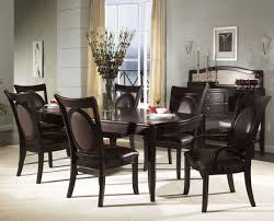 Dining Room Chairs Leather Stunning Dining Room Set With Leather Chairs Pictures Home