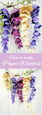 hanging paper wisteria tutorial templates diy paper wisteria
