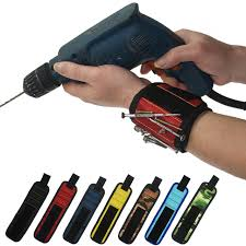 magnetic bracelet tool images Wrist support strong magnetic nail screw drill bit holder jpg