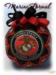 marine pride marine corps ornaments white