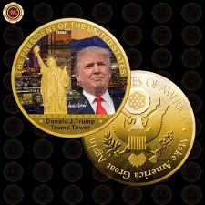 trump tower gold wr 1 pc gold president us donald trump gold plated coin usa trump