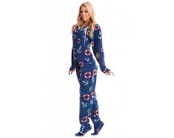 nautical footed onesie pajamas onesie