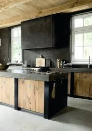 ilot central cuisine bois cuisine bois metal cuisine deco bois mobilier metal ilot central