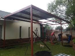 flat roof carport soweto 0604792818 cantilevered carport midrand