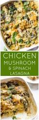 thanksgiving lasagna recipe chicken mushroom and spinach lasagna little broken