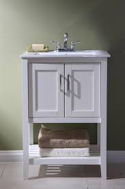 Manhattan 24 Inch Contemporary Bathroom Vanity White Finish