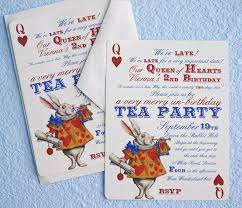 Birthday Card Invitation Ideas Wonderful Alice In Wonderland Birthday Party Invitations
