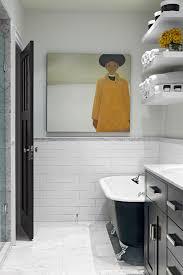 Mirrored Subway Tile Backsplash Bathroom Transitional With by Subway Tiles Bathroom Transitional With Contemporary Bathroom
