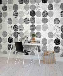 papier peint de bureau design interieur bureau scandinave table blanche epuree chaise