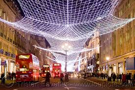 Christmas Lights Decorations London Christmas Street Lights Decorations Red Double Decker Buses