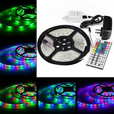 5m smd 3528 rgb led strip light power supply adapter ir remote