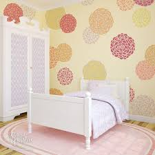Flower Stencils And Floral Designs Nature Wall Stencils For - Flower designs for bedroom walls