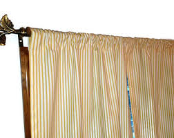 Yellow Striped Curtains Ticking Curtains Etsy
