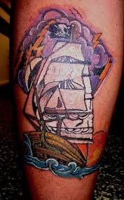 new pirate ship tattoo by bob heath tattoonow