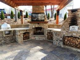 brick outdoor fireplace plans home fireplaces firepits best