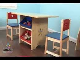childrens table and chair set for boys and girls kidkraft star