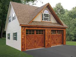 Building A 2 Car Garage by Built On Site Custom Amish Garages In Oneonta Ny Amish Barn Company