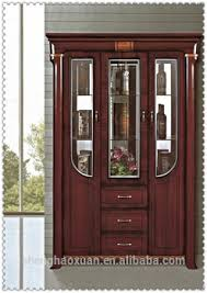 Glass Bar Cabinet Designs Factory Directly Sale Glass Decoration Wine Cabinet Antique Wooden