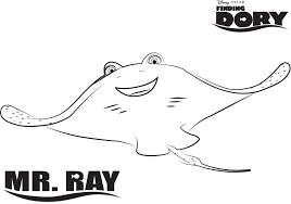 ray finding dory printable coloring