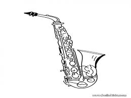acoustic guitar french horn coloring page coloring pages more