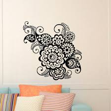wall stickers murals wall decal vinyl sticker indian pattern from wisdomdecals on etsy