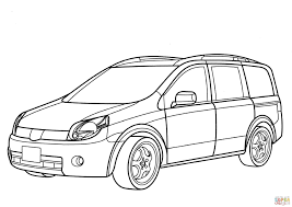 nissan lafesta minivan coloring page free printable coloring pages