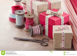 wrapping gift boxes gift boxes and wrapping paper rolls stock photo image of antique