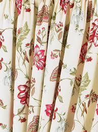 Pink Pleated Curtains Louise Cream U0026 Fuchsia Pink Vintage Floral Pencil Pleat Curtain