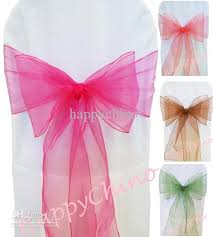 organza sashes organza sash fuchsia chair sashes wedding decoration tie chair
